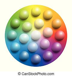 Color Spectrum Colorful Marbles