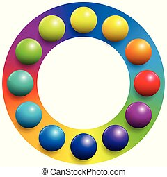 Color Spectrum Frame Rainbow Balls
