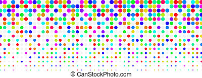 Colored halftone background