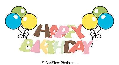 Colorful Balloons Birthday Banner
