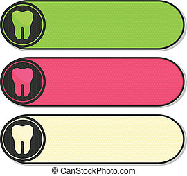 Dental banners collection, beautiful colorful designs.