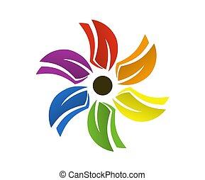 colorful flower logo 1