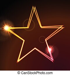 Colorful glowing neon abstract star background