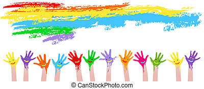 colorful hands
