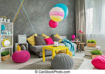 Colorful home decor idea