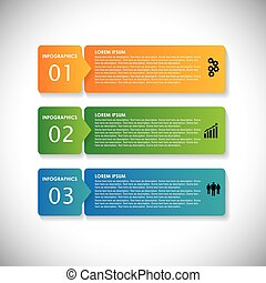 colorful labels with sequence of steps - vector infographic banners. This simple graphic can be used in marketing materials, websites & webdesigns, business presentations, advertising, etc