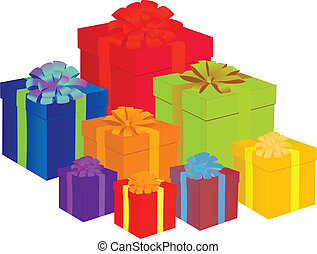 colorful presents vector illustration