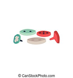 Colorful sewing buttons isolated on white background