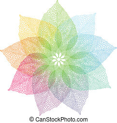 colorful spring leaves, vector