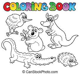 Coloring book Australian animals 1