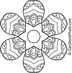 Coloring page with cute owl and floral frame.