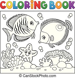 Coloring book sea life theme 5
