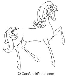 Coloring page with horse