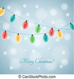 Colourful Glowing Christmas Lights. Vector