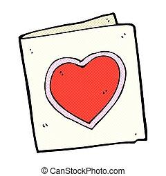 comic cartoon love heart card