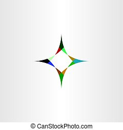 compass arrows sign vector icon element