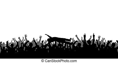 Concert People Silhouettes
