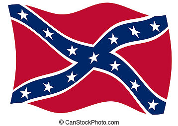 Confederate rebel flag of southern America in official colors.
