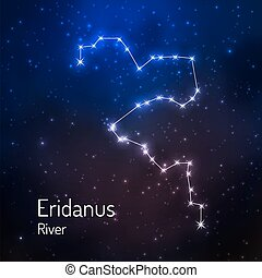 Constellation in the night starry sky. Vector illustration