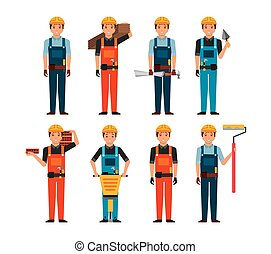 construction worker cartoon icon