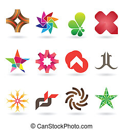 A collection of modern and and fresh logos or icons, 12 original pieces