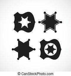 Cop or sheriff badge design