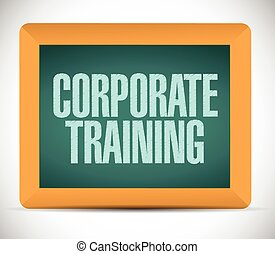 corporate training sign on a board