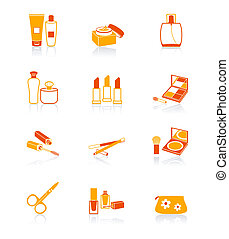 Cosmetics objects icons | JUICY