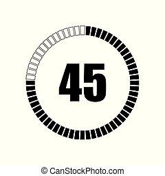 Countdown digital timer