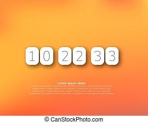 Countdown timer vector clock counter