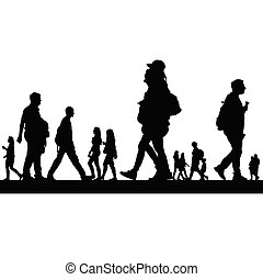 couple people vector silhouette