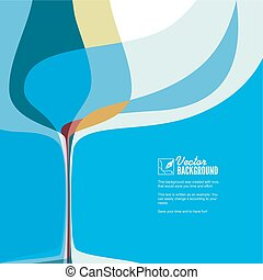 Cover for menu with wine glass