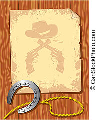 Cowboy background. Vector paper for text