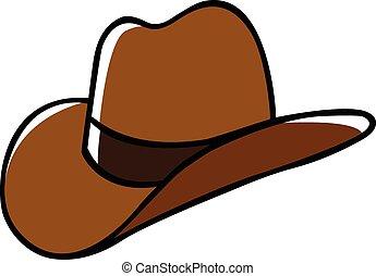 Doodle illustration of a cowboy hat