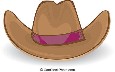 cowboy hat. vector illustration.
