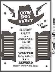 Cowboy party poster