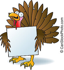 Crazy Turkey With A Sign