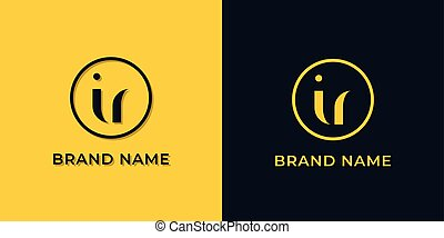 Creative abstract letter IR logo. This logo incorporate with abstract typeface in the creative way.It will be suitable for which company or brand name start those initial.