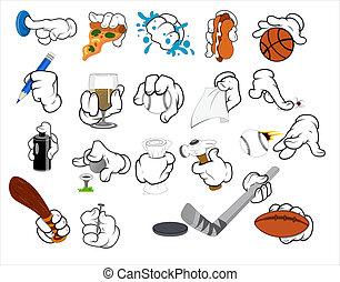 Cartoon Hand Gestures Vector