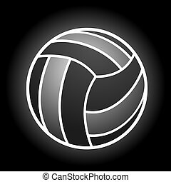 elegant volleyball symbol