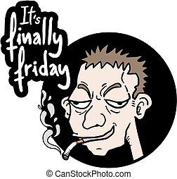 Creative design of funny friday