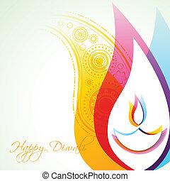 beautiful creative vector colorful happy diwali background