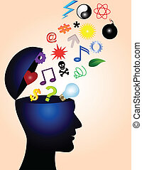 creative ideas - head symbol