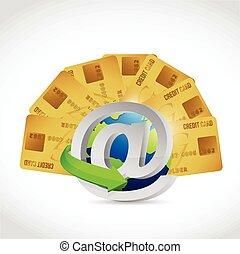 credit card online concept illustration