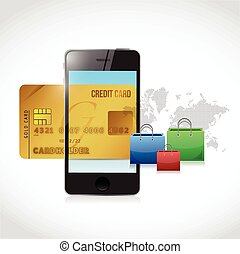 credit card phone online shopping