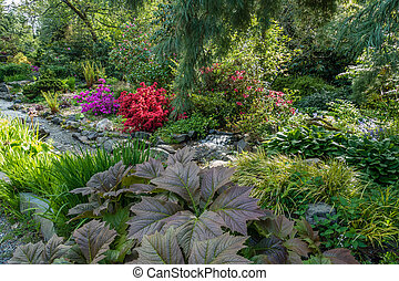 Creek And Garden Landscape 2