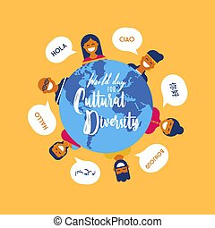 Culture Diversity Day card of diverse people