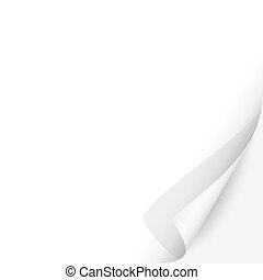 Curled Paper Corner with White Background