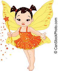 Cute Asian baby fairy