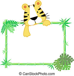 cute baby tiger frame